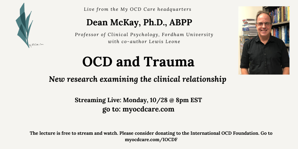 Upcoming Lecture on OCD and Trauma